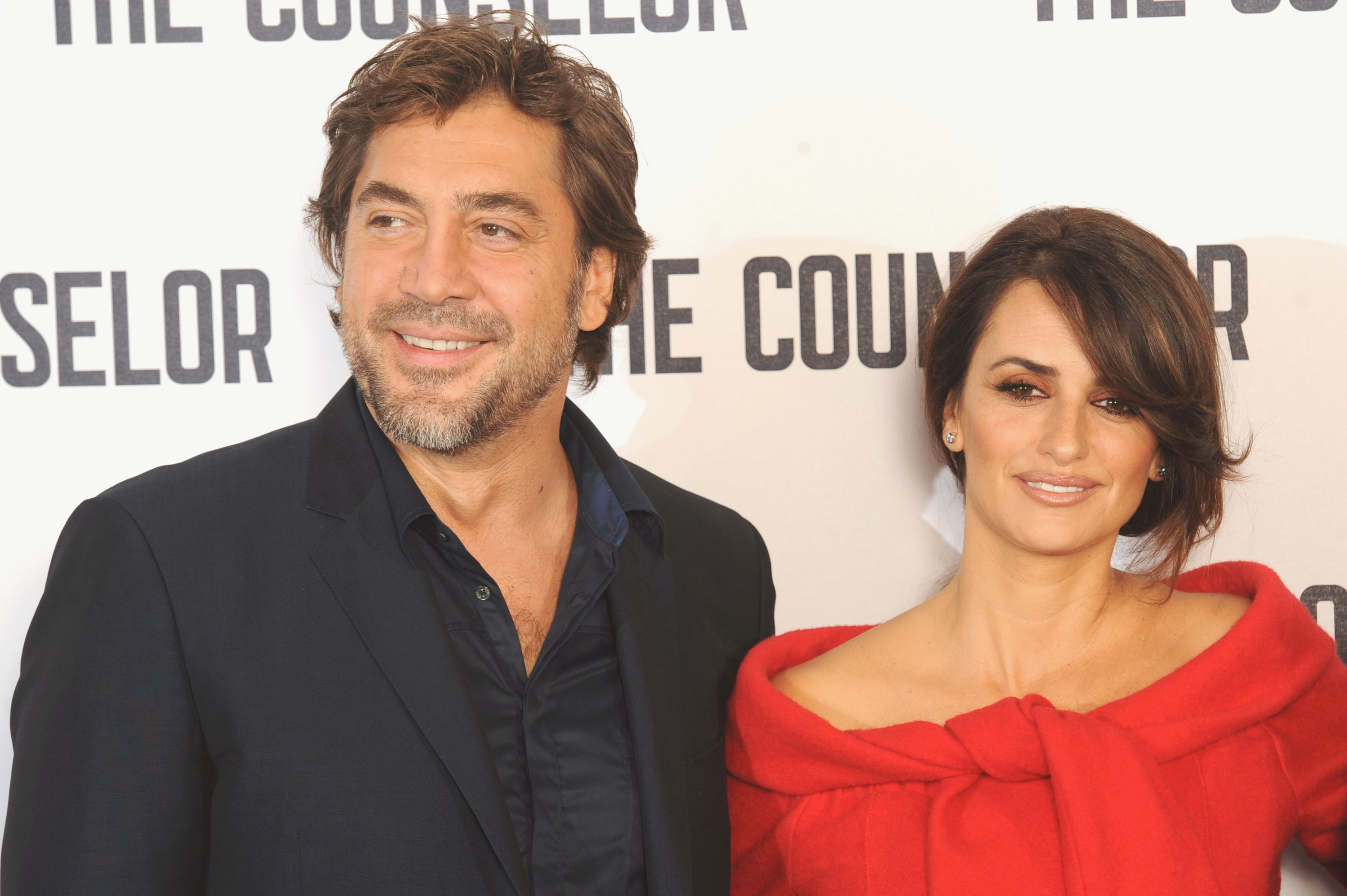 Javier Bardem and Penelope Cruz attend a photocall for The Counselor at The Dorchester