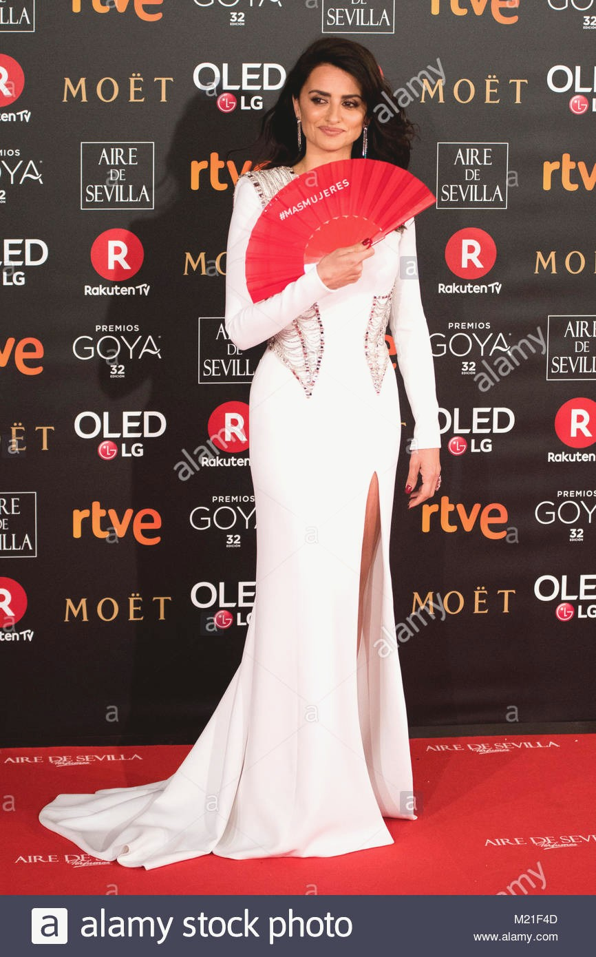 3rd February 2018 Spanish actress Penelope Cruz during the red